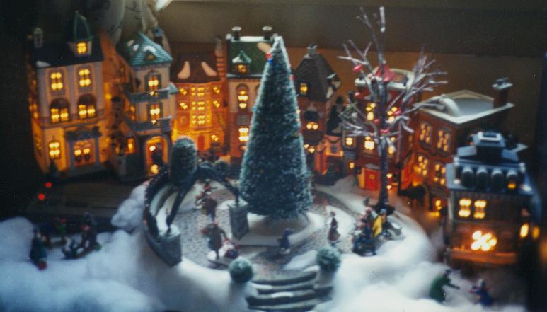 Lighted Christmas Village