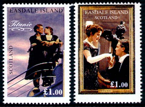 Link to Titanic Movie Souvenir Stamp Sheet